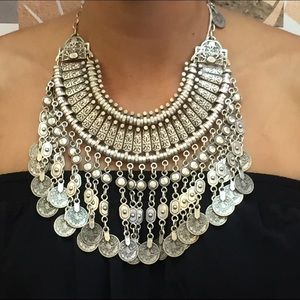 Adjustable Coin Statement Necklace